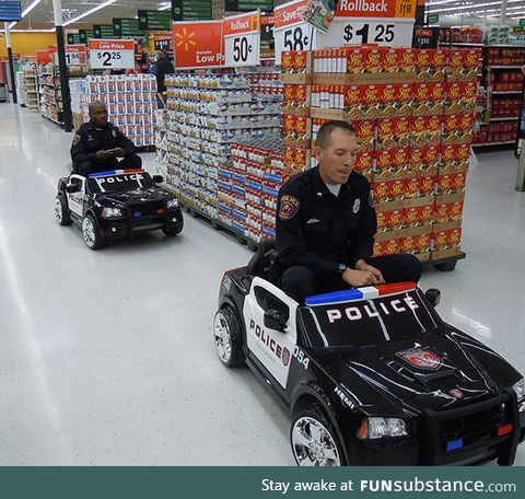 We're all kids at heart. Even the police. LoL ????