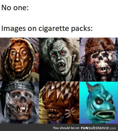 Smoking leads to Necromancy