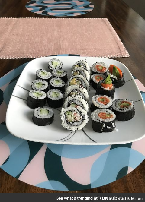 First time making sushi