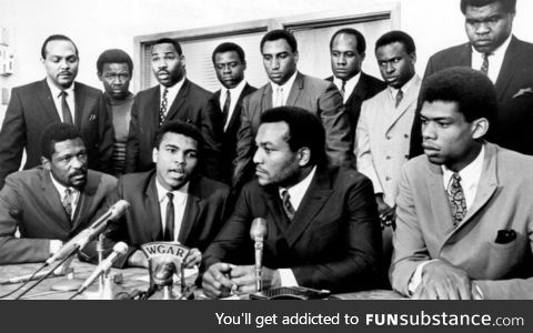 A different era, same conviction. Black athletes united in taking a stand for social
