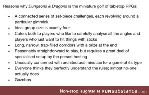 I'd need to play DnD to draw any more comparisons. Comments?