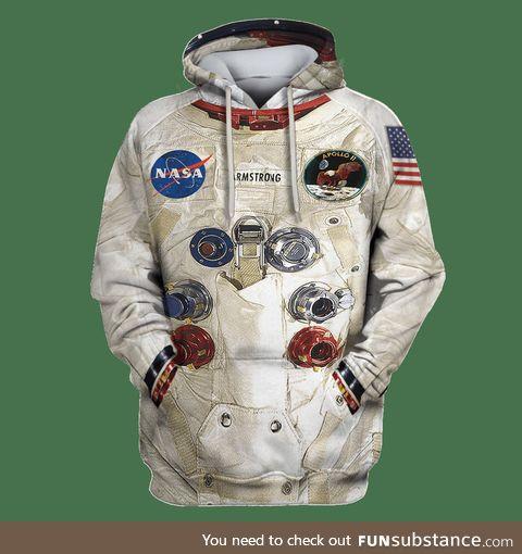 3d spacesuit hoodie