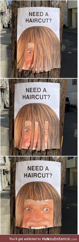 Haircut anyone?
