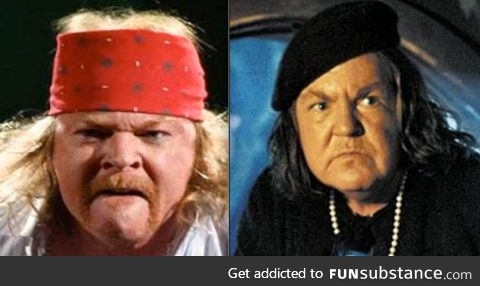 Axl Rose has slowly become Mama Fratelli from The Goonies