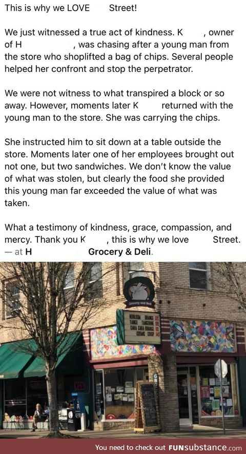 Store owner being a decent human