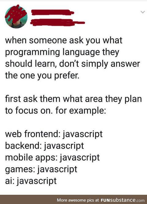 JavaScript the world
