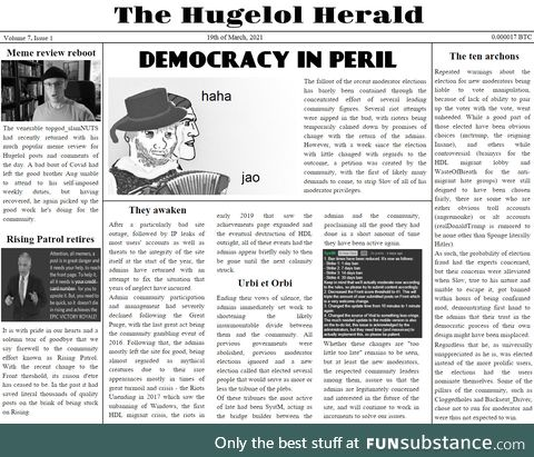 You know 2020 was bad when there was no  Herald posted for the whole of it