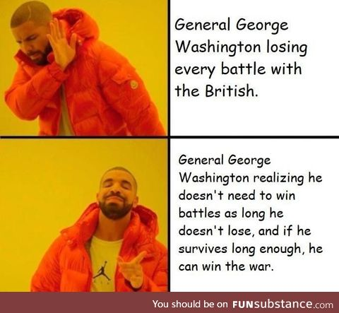 Gen. George Washington understanding what many of history's greatest generals could not
