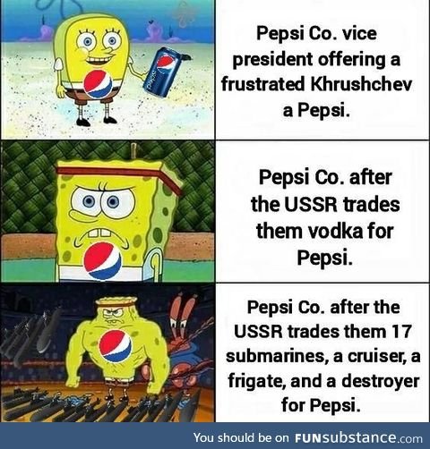 Pepsi once had the 6th largest military in the world