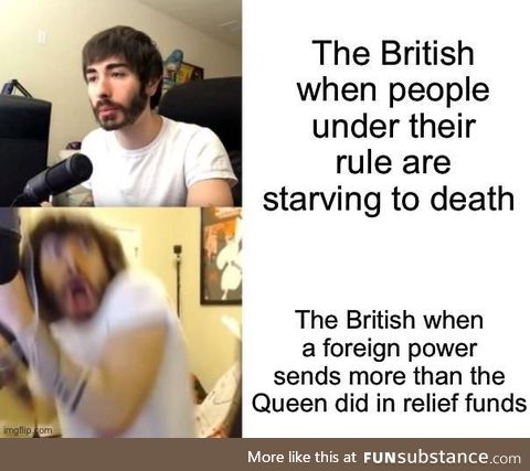 It's pretty bad when the Ottomans are more concerned about the Irish than the Queen