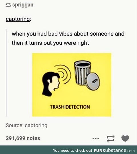 Trust but verify your trash radar