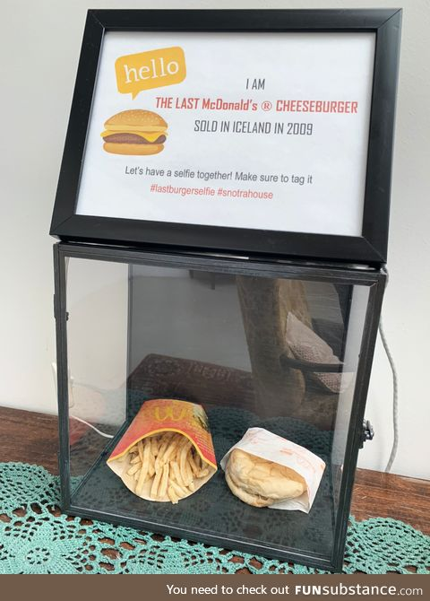 The last McDonald's cheeseburger sold in Iceland for some reason