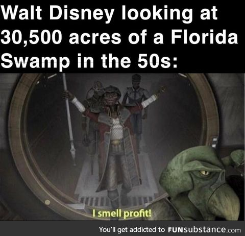And thus Disneyworld was born