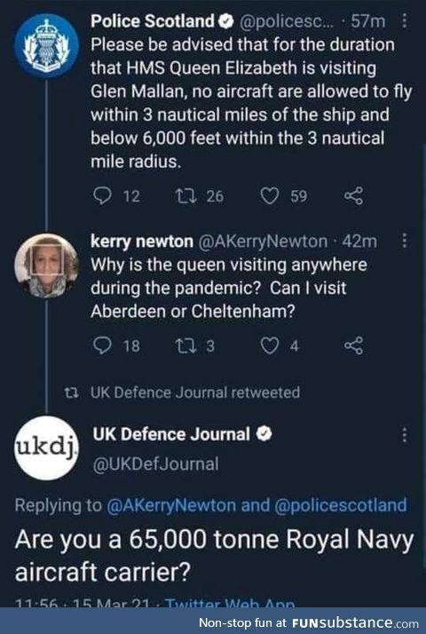 HMS Kerry Newton *toooot*