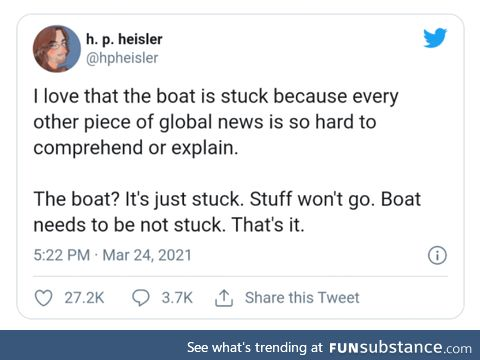 Boat needs to be not stuck