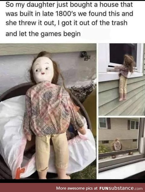 This doll is creepy, hope she didn't sad Annabelle the movie
