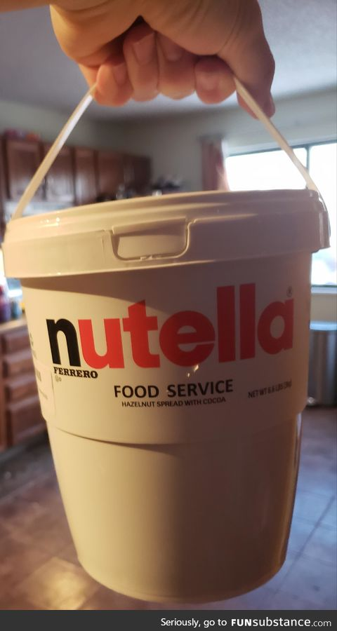 Nutella by the bucket!
