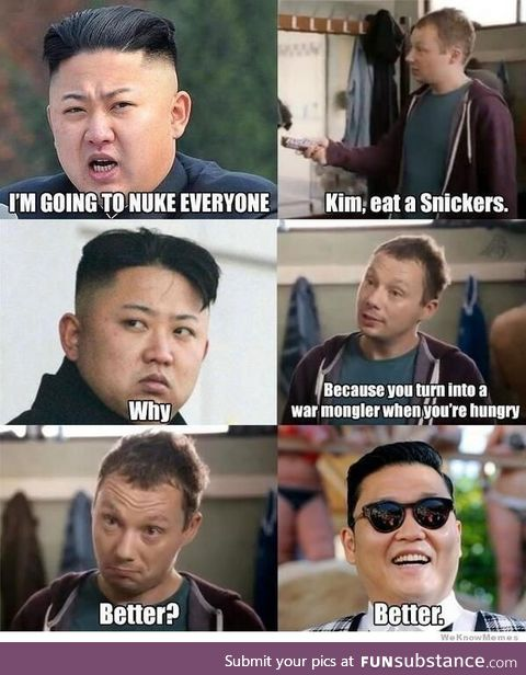 So Kim-Jong-Un was PSY the whole time