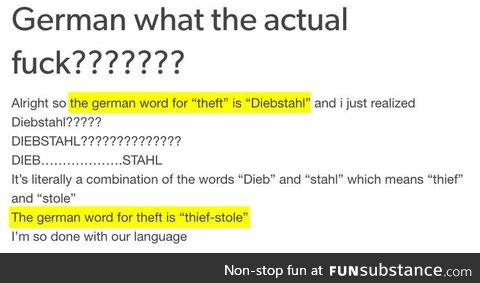 Fun facts about german, Pt. I.