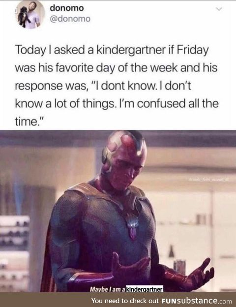 A confused kindergartner