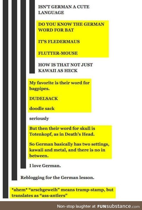 Fun facts about german, Pt. III.