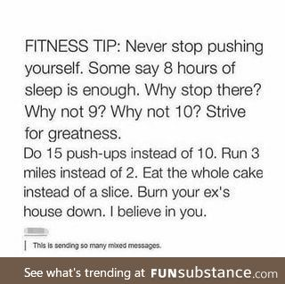 Fitness Tip!