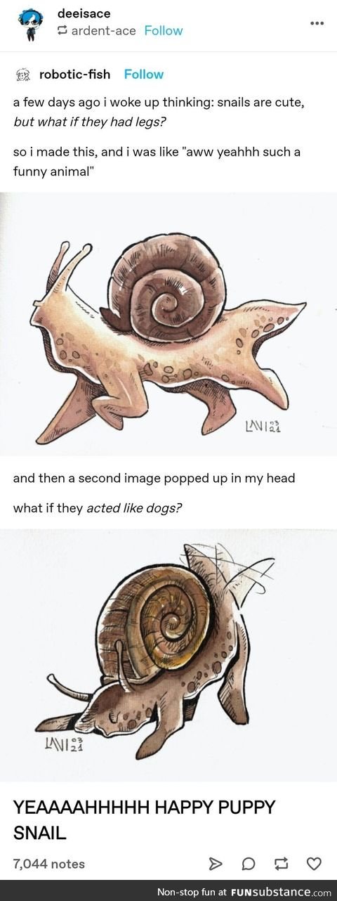 What if snails had legs