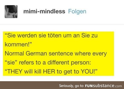 Fun facts about german, Pt. V.
