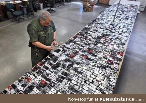 Over 2,000 smuggled cell phones found in a California prison