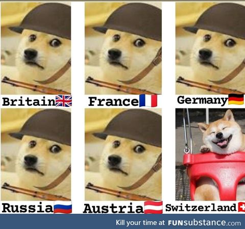 Early 20th century Europe oversimplified with Doge
