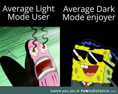 Meme made in dark mode as well