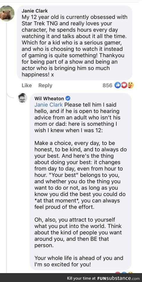 Will Wheaton does a good turn daily, probably