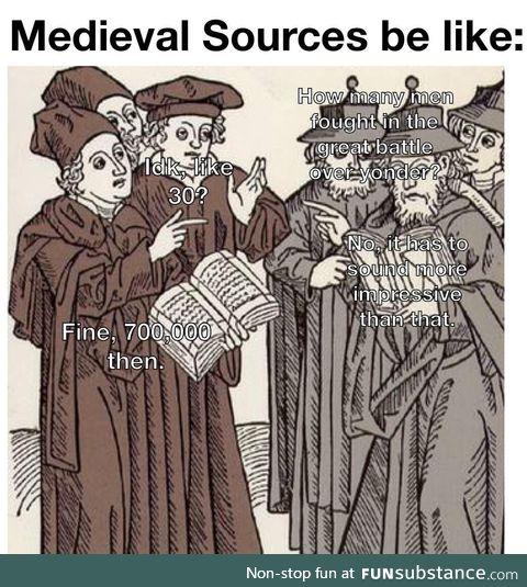 Medieval scholars were unreliable