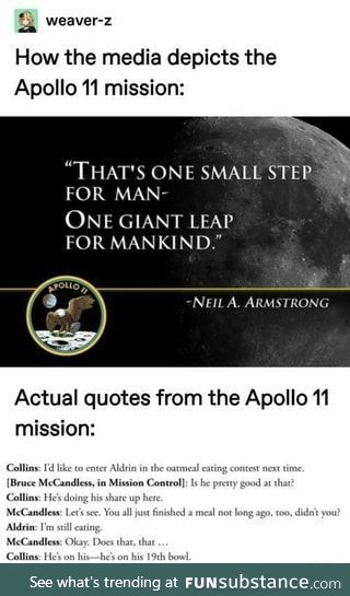 Buzz Aldrin, the man who ate a lot of oatmeal
