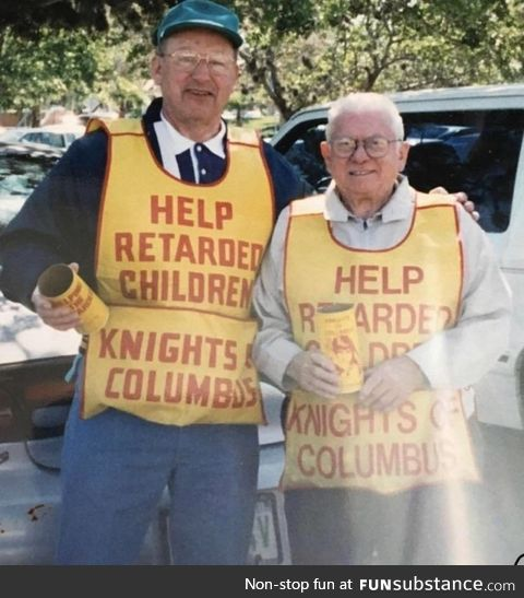 The Knights of Columbus doing their best, circa 1988
