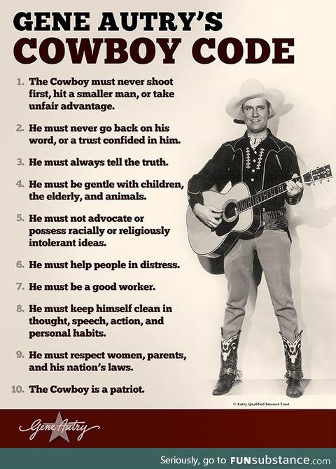 Gene Autry's Cowboy Code, circa 1940