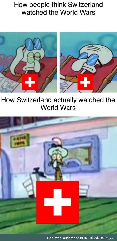 Switzerland during World Wars