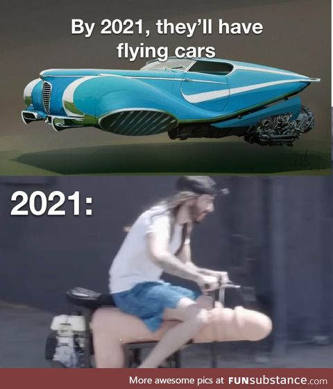 Rather get rear-ended by the flying car