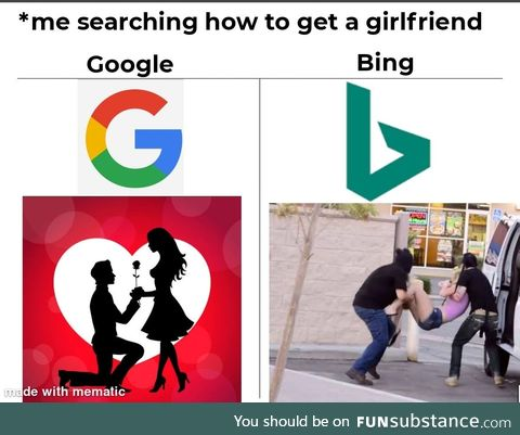 Oh, you ! Bing.