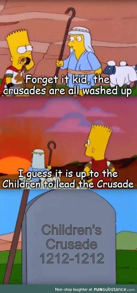 Taking back the Holy Land isn't child's play