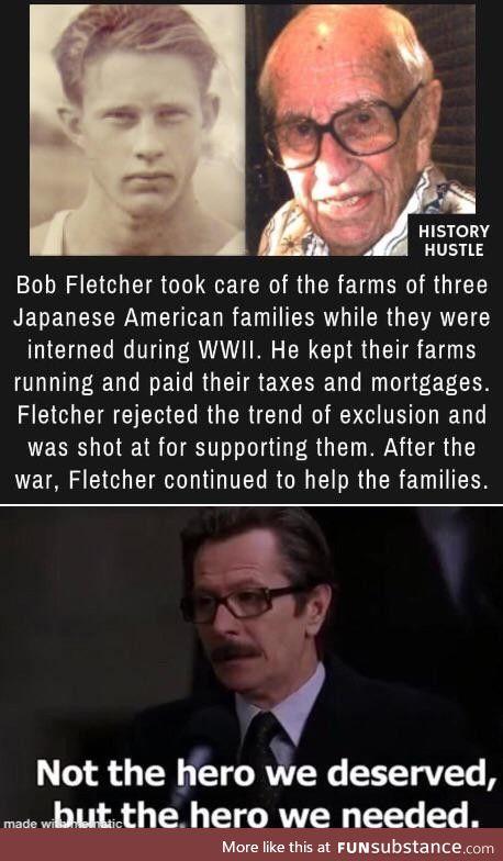 Good on you, Bob Fletcher