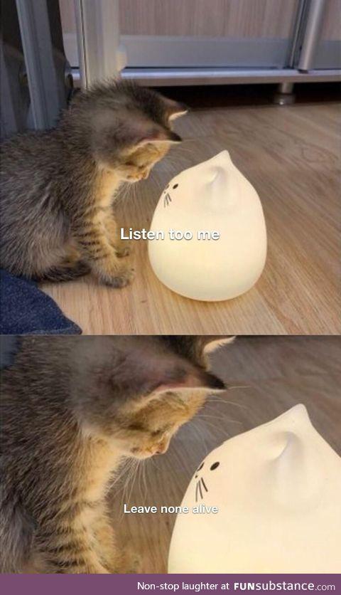 The cat deity has spoken