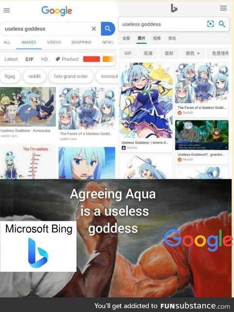 Useless goddess