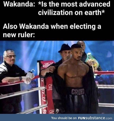 Wakanda be like