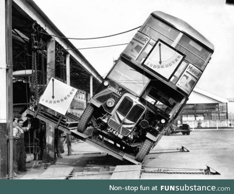 The British testing their innovative doubledecker catapult weeks before D-Day, amid