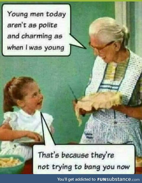 Young men are not polite anymore