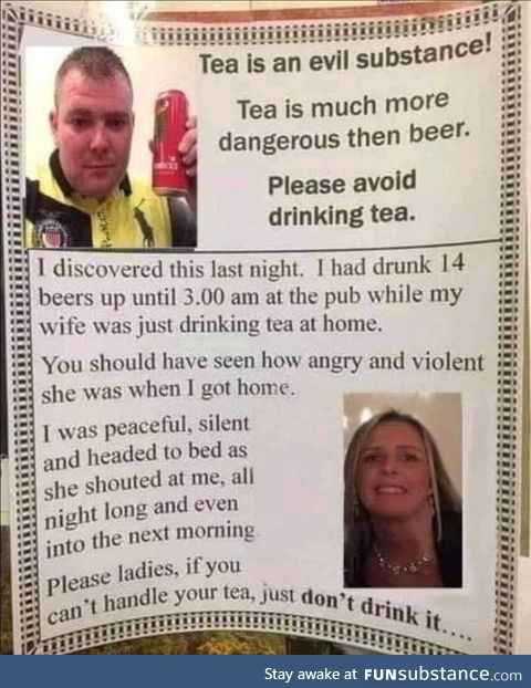 No more tea for you young lady