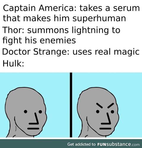 Hulk does a smash