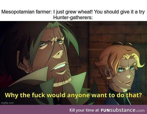 Farming? Wheat a load of bullshit