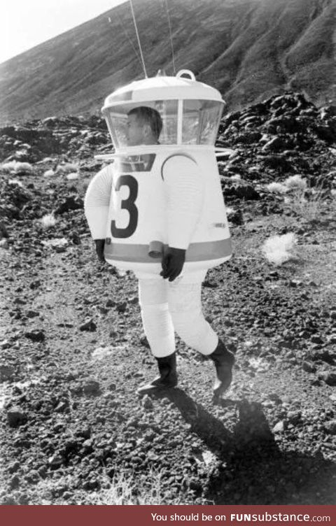 Experimental space suit for Apollo moon missions were goofy AF